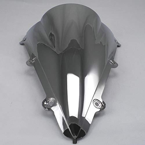 Spoiler Motorrad-Screen-Glaswindschutz Windschutzscheibe Schotts For 2004 2005 2006 04 05 06 Fit For Yamaha YZF 1000 R1 YZF-R1 (Color : Silver)