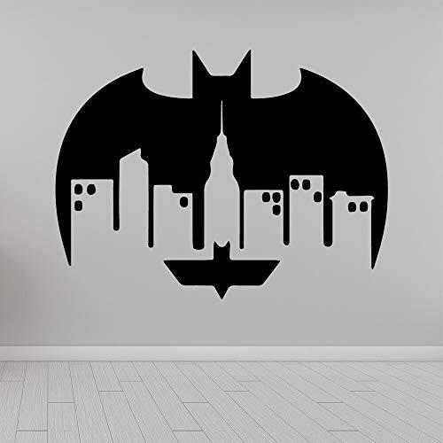 Big Bat vinilo papel tapiz rollo de papel decoración sala de estar decoración de oficina calcomanía pegatina de pared creativa Mural A7 XL 58 cm X 77 cm