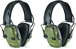 Howard Leight R-01526-PK2 by Honeywell Impact Sport Sound Amplification Electronic Shooting Earmuff, Green 2-Pack (B01HG8A8PA) | Amazon price tracker / tracking, Amazon price history charts, Amazon price watches, Amazon price drop alerts