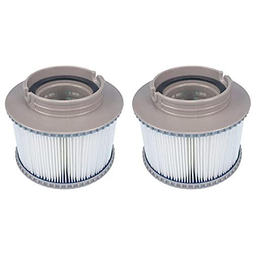 Filterkartusche Ersatzfilter für MSpa, Pool-Filterkartuschen Whirlpool 2er Pack Passend für MSPA-Modelle Whirlpool-Filterpatrone