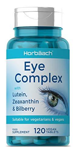 Eye Supplement | Lutein, Zeaxanthin & Bilberry, Vitamins A, B12 & Zinc Complex | 120 Vegan Tablets | Gluten Free Supplement