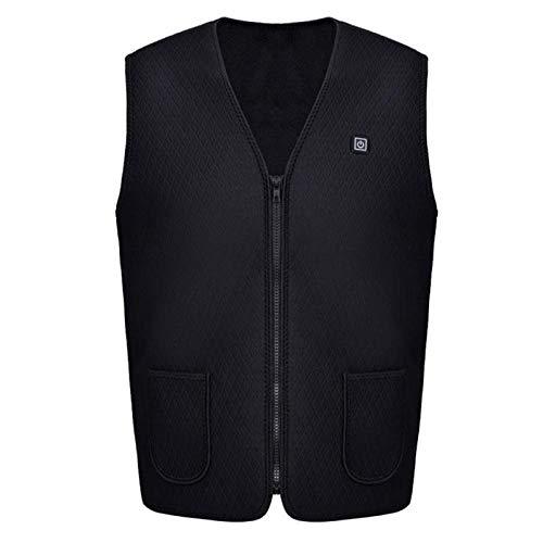 Weier. Ben Vest voor buiten, ski, USB-oplader, verwarming, warme kleding, elektrisch vest, toebehoren voor warmte, XXXL XXXL Zwart