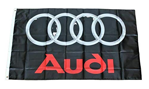Lovely999 New Audi Racing Flag Black Banner Man Cave Garage Motorsports 3 x 5 feet