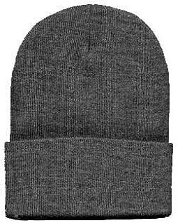 Beanie Plain Grey Winter Ski Woolly Hat