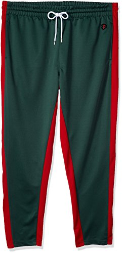 Southpole Mens Athletic Skinny Track Pants Open Bottom, Green, Large