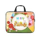 Funda para portátil con forma de huevos de Pascua felices, antiestática, multicolor, para el trabajo, el negocio