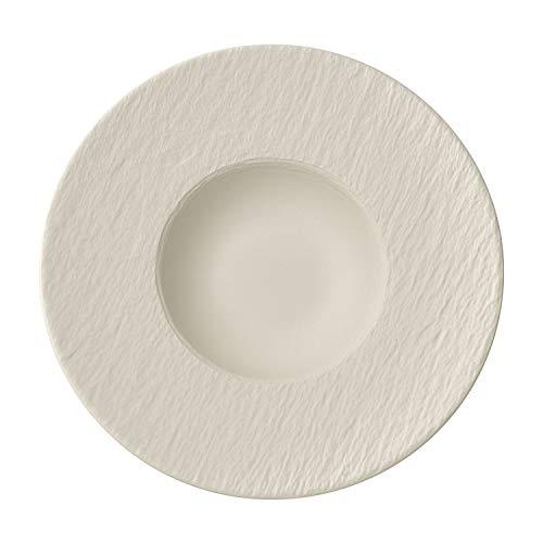 Villeroy & Boch Manufacture Rock Blanc Assiette à pâtes, 29 cm, Porcelaine Premium, Blanc