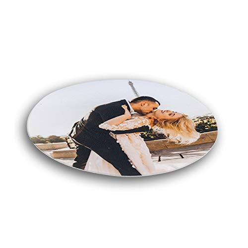 Essbares Foto für Torten, Tortenbild, Tortenaufleger mit eigenem Foto sofort frei gestalten - Beste Qualität (rund, 16cm Durchmesser)