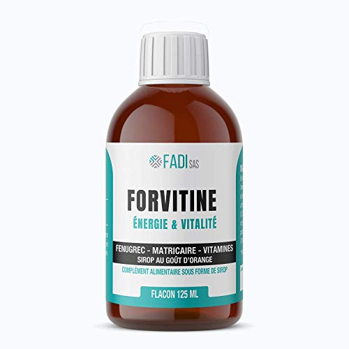 FORVITINE | Apetitoso jarabe de tonicidad con alholva, matricaria y vitaminas B1 y C | Frasco 125 ml