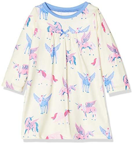 Hatley Mädchen Long Sleeve Nighties Nachthemd, Weiß (Mystic Unicorns 100), 3 Jahre