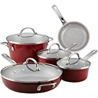 9-Piece Ayesha Curry Home Collection Nonstick Cookware Pots and Pans Set