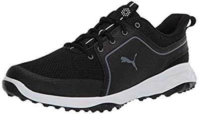Puma Golf Men's Grip Fusion Sport 2.0 Golf Shoe, Puma Black-Quiet Shade, 10.5 M US