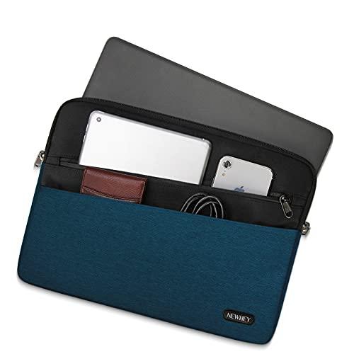 NEWHEY Funda Portatil 15.6 Pulgadas Impermeable Moda Funda Ordenador Blandas Laptop Protectora Prueba Golpes Compatible con Macbook Air / Pro 15-15.6 Pulgadas, HP, DELL, Lenovo Azul Oscuro