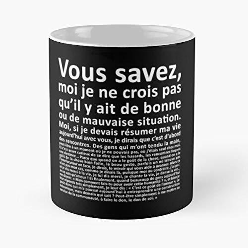 Taza de café de cerámica con texto en inglés 'Num?robis Cl?op?TRE Amonbofils Panoramix C?SAR Mission Ob?lix Et AST?Rix Best 11 oz de café de cerámica