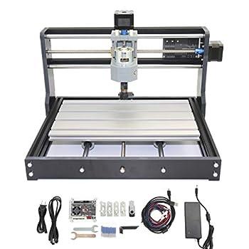 RATTMMOTOR 3018 Pro 3 Axis GRBL Control DIY Mini CNC Router Machine Kit CNC Engraving Milling Machine Working Area 30x18x4.5cm for Cutting Wood Plastic Acrylic PVC PCB