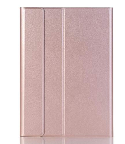 Case For Matepad 10.4 BAH3-AL00 W09/Honor V6 10.4/Pad Pro 10.8 Detachable WiFi Bluetooth Keyboard Leather Cover+Stylus-Rose Gold_Matepad 10.4
