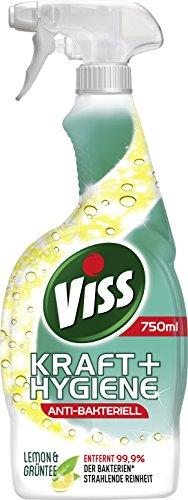 Viss Kraft & Hygiene Reiniger Spray Lemon & Grüntee, 750 ml, 6er Pack (6 x 750 ml)