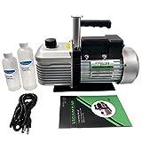 Xtractor Depot 12CFM 2-Stage Rotary Vane Ultimate Vacuum Pump, 15 Micron 1HP Motor, KF25 Inlet Port, 630ml Oil Capacity, VP2200N