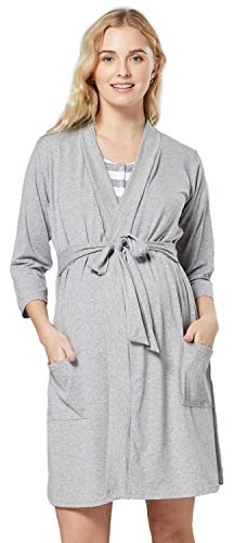 HAPPY MAMA Mujer Premama Conjunto Camisa Dormir Bata Manta Bebe 1059