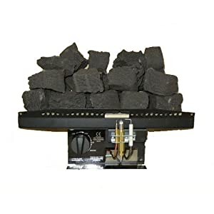 "16"" Living Flame Gas Fire R5 Rectangular Inset Fire Tray Coal Effect UK Manufactured 16 Inches, Black"