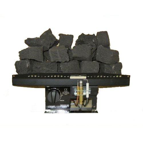 Coals 4 You V7 Feuerschale für Gasfeuer, 40,6 cm, viktorianischer Stil, Kohleeffekt, 40,6 cm