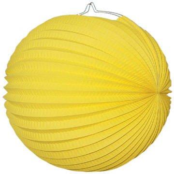 Lampion rund, ca. Durchmesser 25 cm, gelb