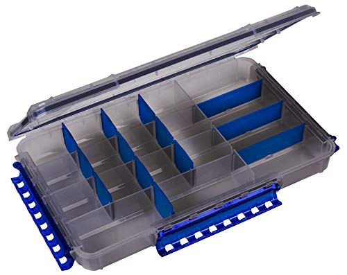 Flambeau Outdoors Zerust MAX WP5005ZM Ultimate Waterproof Tuff Tainer - 20 Compartments and 15 Removable Dividers- 14  L x 8.89  W x 2.1  D - Fishing and Tackle Storage Utility Box