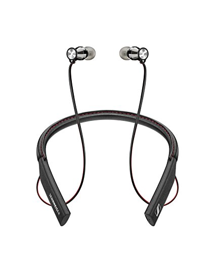 Sennheiser Momentum in-Ear Wireless Black Headphones, Bluetooth 4.1 with Qualcomm Apt-X and AAC, NFC one Touch Pairing, 10 Hour Battery Life, 1.5 Hour Fast USB Charging, Multi-Connection to 2 Devices