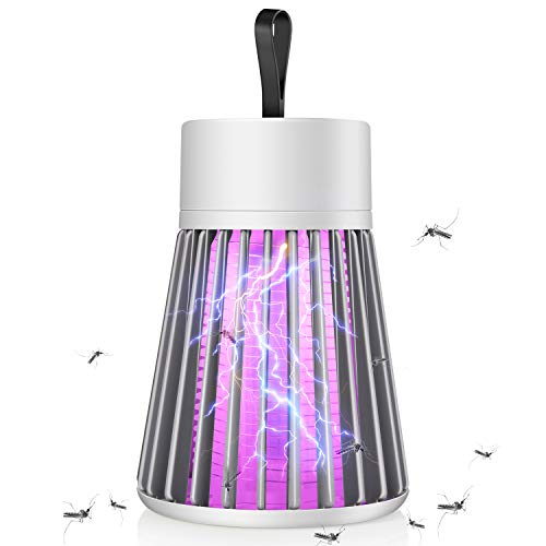 Bug Zapper Mosquito Zapper & Fly Zapper Portable Indoor Bug Zapper LED Fly Trap Electronic Fly Zapper Indoor Super-Fast Electric Bug Zapper Mosquito Trap Ideal for Fly Traps Indoors