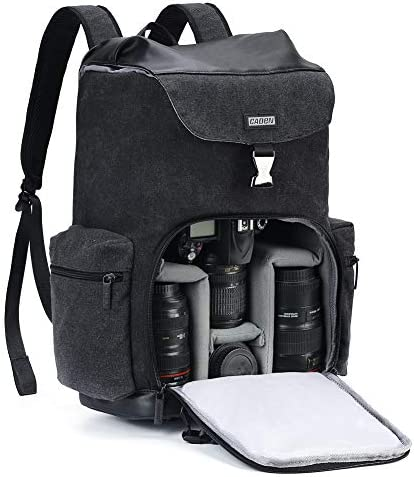 CADeN Camera Backpack Canvas Camera Bag for DSLR SLR Mirrorless Camera with 14 inch Laptop Compartment product image