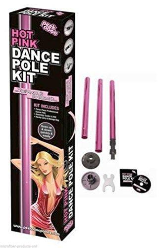 Peekaboo Hot Pink Party Stripper Pole Dance Kit