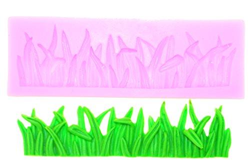 Silikonform Backform Rasen Gras Wiese Weide Seifenform Fondant Backzubehör Silicon Mold Tortendekor Backen Kuchen Gießform Randdeko Basteln Dekorieren Verzierung Verzieren Schmücken Neu