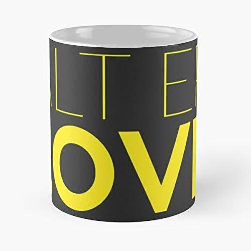 Alt ER Love – Taza de café de cerámica de mármol blanco