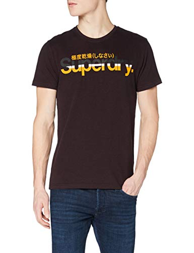 Superdry Cl Vintage Stripe tee Camiseta, Autumn Blackberry Marl, 3XL para Hombre