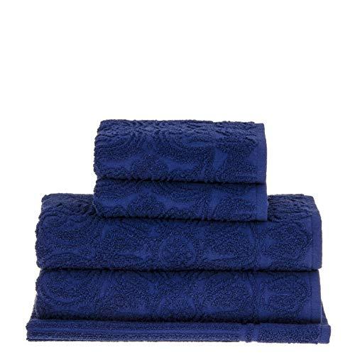 Jogo de Toalhas de Banho Buddemeyer, Florentina, 5 peças, Azul, Buddemeyer