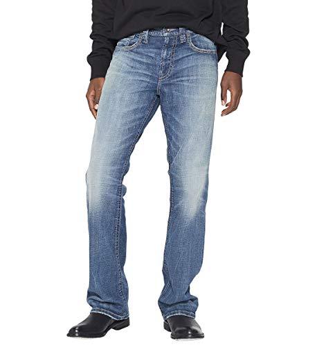 Silver Jeans Co. Men's Gordie Loose Fit Straight Leg Jeans, Medium Vintage, 34W X 32L