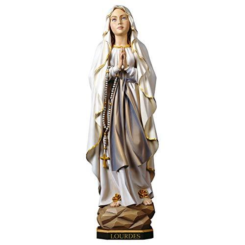 Motivationsgeschenke Madonnen Figur Lourdes Holz geschnitzt und handbemalt aus Südtirol, Höhe: 23 cm