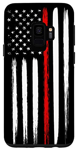 Galaxy S9 Firefighter Phone Case Thin Red Line American Flag Fireman Case