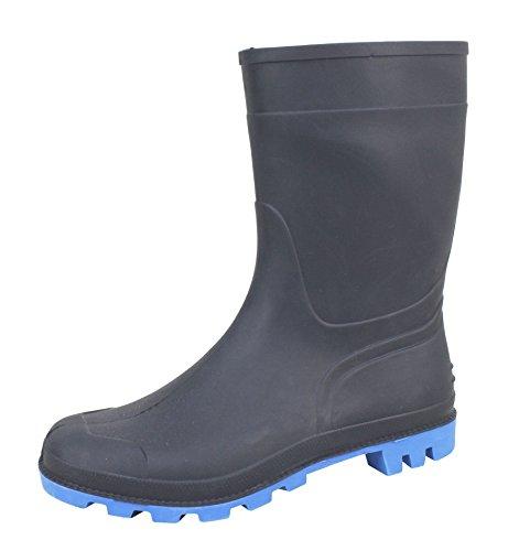 Bockstiegel Herren Gummistiefel Gr. 41-45 Regenstiefel Stiefel Stiefelette blau (43)