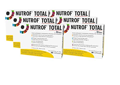 Nutrof Total Capsules Dietary Supplement for Healthy Eyes (Pack of 6, 30 Capsules)