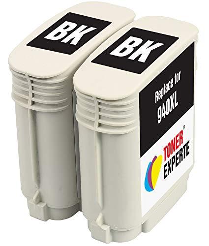 TONER EXPERTE® 2 XL Schwarz Druckerpatronen Ersatz für HP 940 940XL C4906AE kompatibel für HP Officejet Pro 8000 8500 8500A A809a A809n A909a A909g A910a A910g | hohe Kapazität (2200 Seiten)