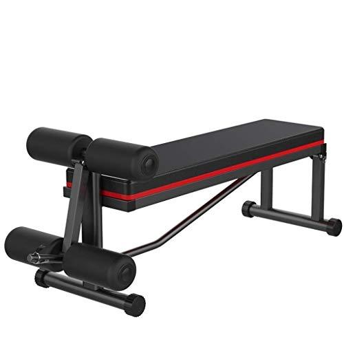 XIAOHUANG Hantelbank Multi-Funktions-Fitness Chair verstellbare Falten Flachbank for Kraftstationen Qualitäts-Leder Die Oberfläche flach Verschleißfeste Anti-Rutsch