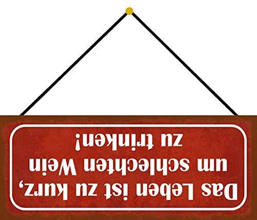 Generisch Targa in metallo per vino con cordino, 10 x 27 cm