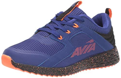 Avia Boys' Avi-Ryder Sneaker, Clematis Blue/Shocking Orange/Black, 12 Medium US Little Kid