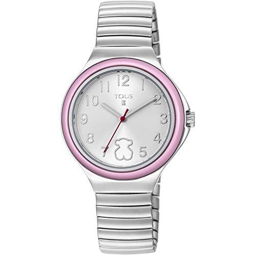 Reloj Tous de niña Easy con Brazalete Extensible y Bisel Rosa, Ref. 800350640.