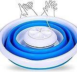 Giow Elektrischer Reiniger, tragbar, kompakt, Mini, Camping, Reisen, faltbar, USB, Blau EU blau