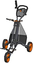 Golf Push Cart - Easy Fold - Charcoal/Orange - GCPro2-CO