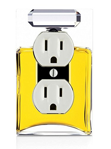 Price comparison product image Trendy Accessories Perfume Bottle Image Design Print Pattern Electrical Outlet Plate Cover