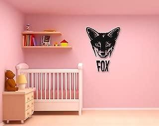 Wall Stickers Vinyl Decal Fox Lettering Animal Kids Room Nursery Baby VS273