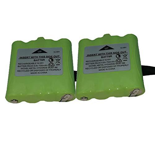 2 Pack BATT6R Battery AVP8 Rechargeable Batteries 4.8V 700mAh for Midland Two Way Radio Walkie Talkie LXT560VP3 LXT500VP3 LXT535VP3 LXT560